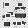 Realistic photographic slide. Retro design for photo presentation