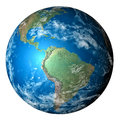 Photo realistic planet Earth in transparent background Royalty Free Stock Photo