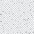 Realistic pure clear water drops set isolated on the transperant alpha background. Vector illustration.