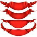 Realistic Red decorative ribbon. EPS 10