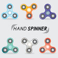 Realistic set of hand spinner toys
