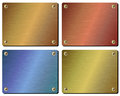 Realistic set of metal plates Royalty Free Stock Photo