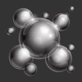 Realistic shiny transparent water drop spheres Royalty Free Stock Photo
