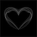 Realistic Smokey Heart Isolated on Black Royalty Free Stock Photo