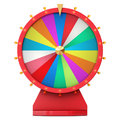 Realistic spinning fortune wheel, lucky roulette. Colorful wheel of luck or fortune. Wheel fortune isolated on white, 3d