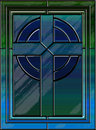 Realistic stained glass cross Royalty Free Stock Image