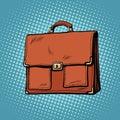 Realistic stylish leather business portfolio bag Royalty Free Stock Photo