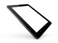 Realistic tablet computer and modern device with blank touch screen with black frame isolated on white background Royalty Free Stock Photos