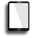 Realistic tablet pc computer with blank screen isolated on white background Stock Photos