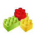 Realistic toy blocks on white Royalty Free Stock Images
