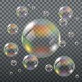 Realistic Transparent Soap Bubbles