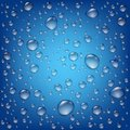 Realistic Transparent Water Drops Template Royalty Free Stock Photo