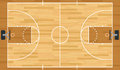 Realistic vector basketball court a hardwood textured eps file contains transparencies Stock Image