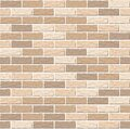 Realistic Vector brick wall seamless pattern. Flat wall texture. Light yellow textured brick background for print, paper Royalty Free Stock Photo