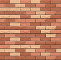 Realistic Vector brick wall seamless pattern. Flat wall texture. Orange, yellow and red textured brick background for print, paper Royalty Free Stock Photo