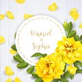Realistic vector yellow rose. 3d roses Royalty Free Stock Photo