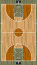 Realistic Vertical Basketball Court Illustration Royalty Free Stock Photo
