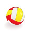 Realistic volleyball white background vector format eps Royalty Free Stock Images