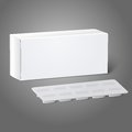 Realistic white blank paper medicine package box
