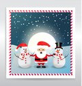 Realistic winter sale banner template with shopping bag & Santa clausSanta Claus with snowman abstract