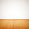 Realistic wood floor and white wall eps Royalty Free Stock Photos