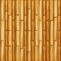 Realistic wooden bamboo background. Seamless pattern Vector
