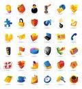 Realistische pictogrammen die voor zaken en financiën worden geplaatst Royalty-vrije Stock Foto's