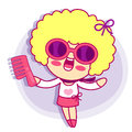 Realize the it girl shopping style girl character design series Royalty Free Stock Photography