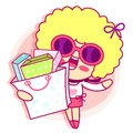 Realize the it girl shopping style girl character design series Stock Photography