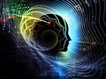 Realms of human mind composition feature lines and symbolic elements with metaphorical relationship to consciousness imagination Stock Photos