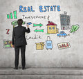Realtor drawing real estate concept Royalty Free Stock Photo