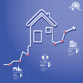 Realtor infographic rent let concept elements whit icons and charts Stock Image