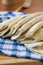 Ream of traditional tatar flatbread Royalty Free Stock Image