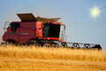 Reaping machine or harvester combine Royalty Free Stock Photo