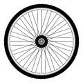 Rear bicycle wheel with spiked bicycle tire