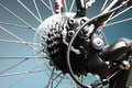 Rear bike cassette on the wheel with chain Royalty Free Stock Photos