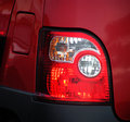 Rear brake lights Royalty Free Stock Photo