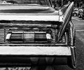 The rear brake lights Car Lincoln Premier Coupe Custom Showcar 1960 Royalty Free Stock Photo