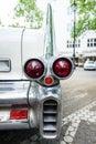 The rear brake lights of full-size luxury car Cadillac Fleetwood Series 70 Eldorado Brougham, 1957 Royalty Free Stock Photo
