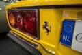 The rear brake lights of a sports car Ferrari 308 GT4 Dino, 1977 Royalty Free Stock Photo