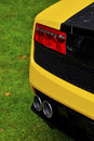 Rear detail of an Italian supercar Stock Photo