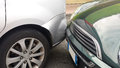 Rear-end collision Royalty Free Stock Photo
