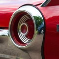 The rear lamp of an old vintage retro car. Close-up. Motor transport. Royalty Free Stock Photo