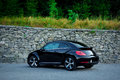 Rear left side view of cabriolet sport german car view from ground surface Royalty Free Stock Photo