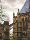 stock image of  The rear of Lincoln Cathedral showing it`s arches, Lincolnshire