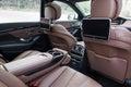 Rear seats in luxury car Royalty Free Stock Photo