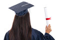 Rear view of college graduate Royalty Free Stock Photos