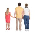 Rear view of family standing Royalty Free Stock Photo