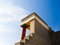 Rear view of Minoan palace at Knossos Royalty Free Stock Image