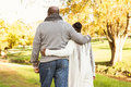 Rear view of senior peaceful couple Royalty Free Stock Photo